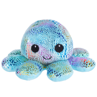 Мягкая игрушка осьминог блестящий